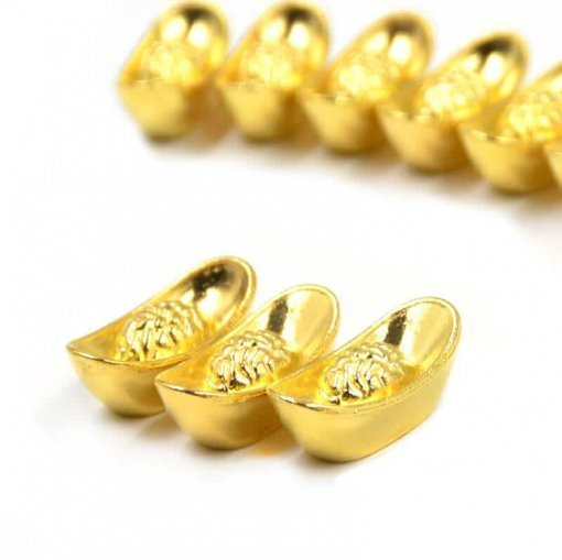 10 Pieces Golden Yellow Ingots