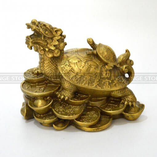 Brass Dragon Turtle (Feng Shui Tortoise)